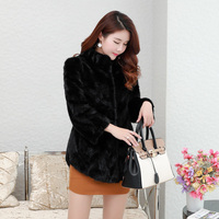 New Luxury Real Mink Fur Coats Women Winter Thick Warm Natural Fur Jacket Outerwear Genuine Fur Coat Female WYQ1577