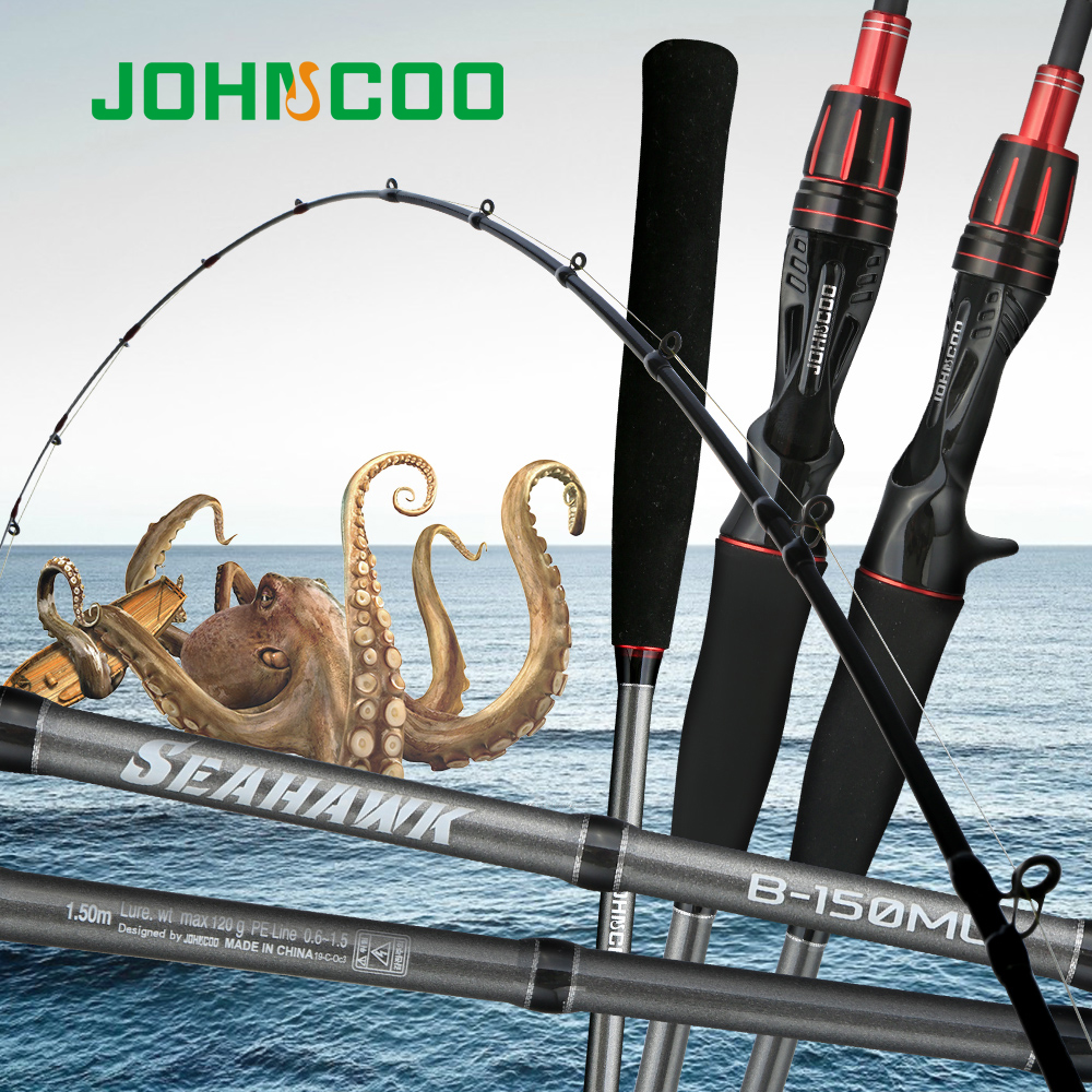 Octopus Fishing Rod Super Light Saltwater Snapper Boat Fishing Rod Sensitive  PE0.6-1.5 Light Jigging Rod 1.5m ML Power Max 120g
