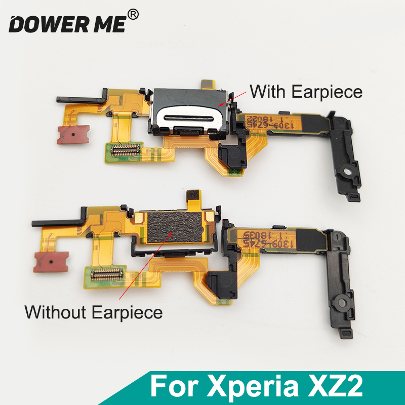 Dower Me Top Ear Speaker Earpiece Microphone Mic Light Proximity Sensor Replacement For Sony Xperia XZ2 H8216 H8266 H8276 H8296