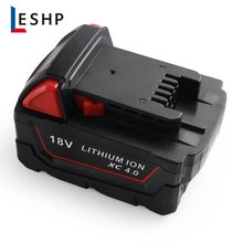 Power Tool Battery 18V 4000mah Red Lithium High Demand 4.0Ah Rechargeable For Milwaukee M18 Replacement