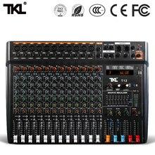 цена на TKL professional audio mixer 12 channel stage DJ mixer with Bluetooth MP3 USB digital mixer
