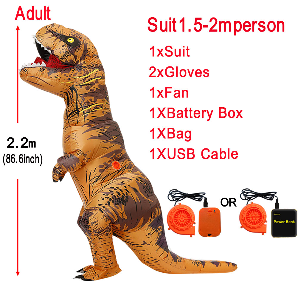 Inflatable Dinosaur Costumes T-rex Cosplay Anime Blowup Halloween Costume For Women Men Child Adult Kids Mascot