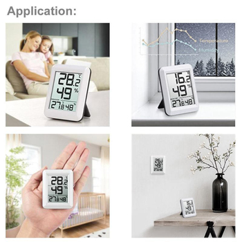 New Digital Wireless Hygrometer Lcd Thermometer Indoor Outdoor Electronic Temperature Humidity Monitor Weather Station Alarm Clo