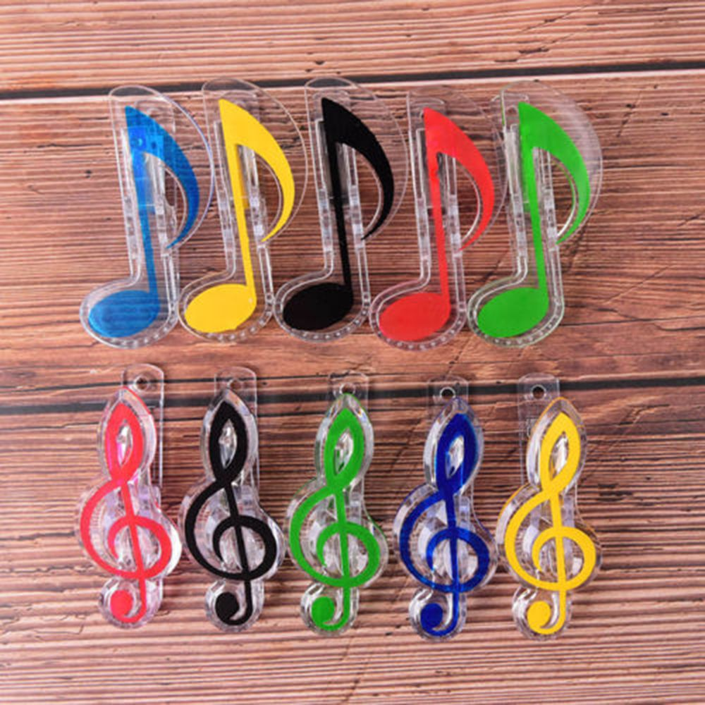 2pcs Novelty Musical Note Clips Book Page Clips Kawaii Stationery Folder Clip Photos Tickets Notes Letter Paper Clip