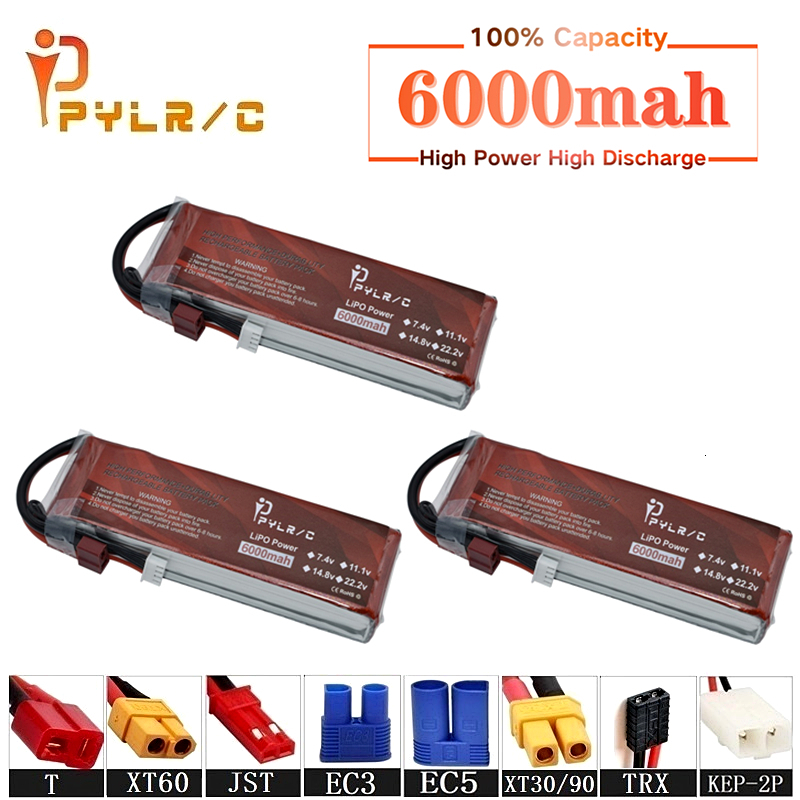 High Rate 11.1v <font><b>6000mAh</b></font> <font><b>Lipo</b></font> Battery For RC Helicopter Parts <font><b>3s</b></font> Lithium battery 11.1v 45C RC Cars Airplanes Drone Battery T/XT60 image