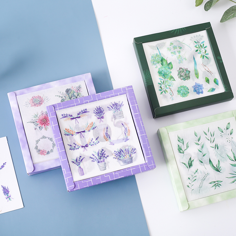 20pcs/box Journal Paper INS Style Travel Plants Flowers Life Decorative Diary Cute Stickers DIY Scrapbooking Stationery