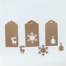 Kraft-Tags Paper-Hang-Tags Xmas-Party-Wrapping-Supplies Christmas-Paper Gift DIY 150pcs