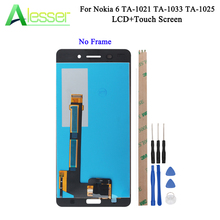 Alesser For Nokia 6 LCD TA 1021 TA 1033 TA 1025 Display And Touch Screen Screen Digitizer Assembly Replacement +Tools + Adhesive