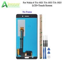 Alesser עבור Nokia 6 LCD TA 1021 TA 1033 TA 1025 תצוגת מסך מגע מסך Digitizer עצרת החלפה + כלים + דבק