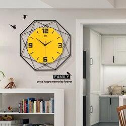 Geometryczna metalowa drewniana ściana zegar świecące w ciemności świecący zegar ręce i cyfry nowoczesna dekoracja ścienna do domu zegary