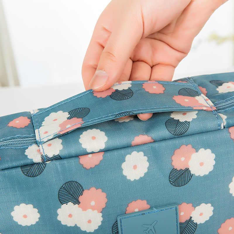 2020 venda quente mulheres viagem saco cosmético náilon multifuncional maquiagem sacos à prova dwaterproof água portátil higiene pessoal organizador compõem casos