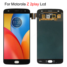 Hızlı gemi stokta lcd ekran Motorola Moto Z2 oyun XT1710 01/07/08/10 dokunmatik ekran digitizer 5.5 inç 1920*1080 montaj