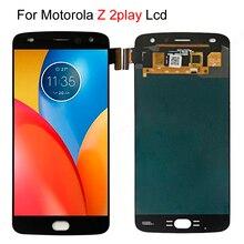 شاشة عرض LCD سريعة الشحن لموتورولا Moto Z2 Play XT1710 01/07/08/10 تعمل باللمس محول الأرقام 5.5 بوصة مجموعة 1920*1080