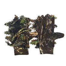 Outdoor Hunting 3D Maple Leaves Bionic Camouflage Gloves Full Finger Skid Proof Fishing