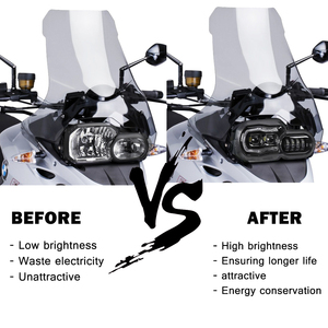 Big Sale! E-mark Approved Headlights for BMW F650GS F700GS F800GS ADV F800R Motorcycle Lights Complete LED Headlights Assembly