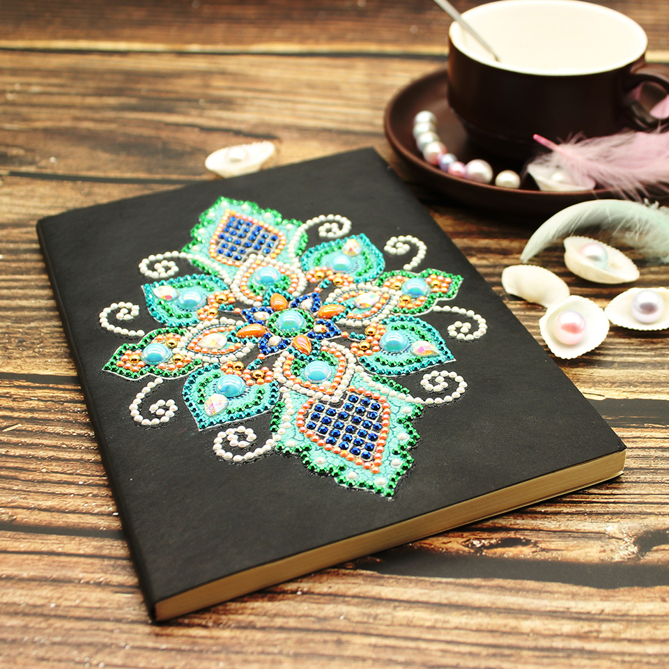 Azqsd Special Shaped Diamond Painting Notebook Diamond Embroidery