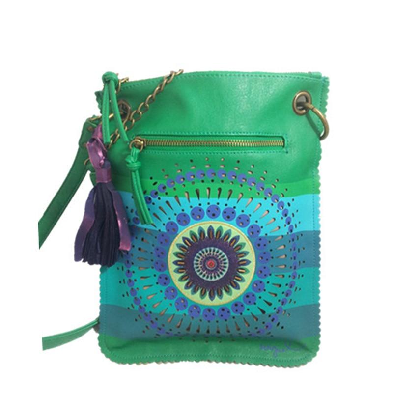 wholesale Original 2021 Spain .laugiseD Women's Bag Retro Tassel Wild Hollow Fashion
