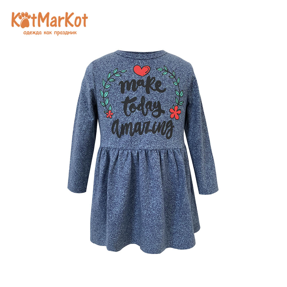 Фото - Dresses Kotmarkot 20054 shirt baby dress for a girl tunic summer  Cotton Casual plus lace insert floral tunic dress