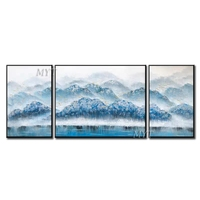 Artist Designed Picture Handmade Blue Mountain Oil Paintings Unique Modern Abstract Pop Oil Painting For Living Room Decoration
