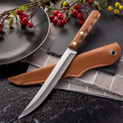 Nóż kuchenny filet rybny ze stali nierdzewnej owoce Paring tasak do mięsa warzywa krojenie nóż szefa kuchni z osłoną