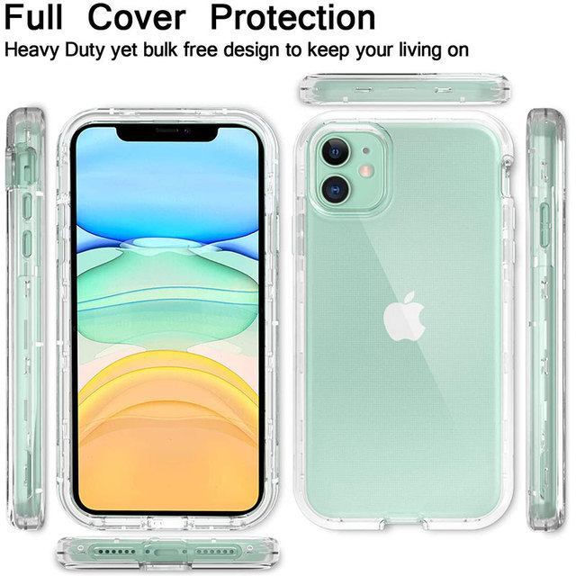 Full Body 360 Front Back Phone Case For Iphone 12 11 Pro Max 8 7 6s Plus Cover Transparent Coque For Iphone X Xr Xs 5s Se 2020 4