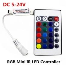 DC 5V 12V 24V 12A  RGB IR Remote Mini Controller 24Keys LED Driver Dimmer For 5050/2835/3528/5730/5630/3014 RGB LED Strip Light