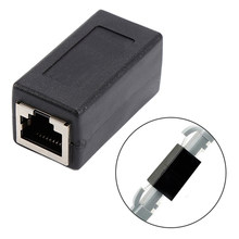 5 pces rj45 conector acoplador fêmea para rede fêmea lan adaptador acoplador extensor rj45 ethernet cabo conversor de extensão