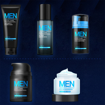 цена на Men skin care set Face Cream eye cream Serum Skin Care Whitening Acne Treatment Moisturizing Face Care  Repair Oil Control 5pcs