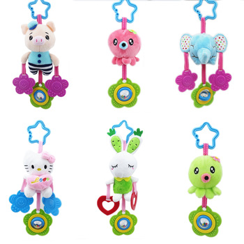 Cartoon elephant donkey plush toys baby rattle Hand Bell Baby Stroller Crib Hanging Rattles Christmas birthday gifts