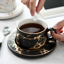 Marble ceramic coffee cup cappuccino milk beer espresso set handmade tea whiskey glass drink beverage
