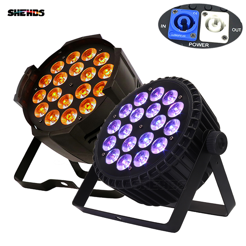 18X18W/18x15W/18x12W Par Light Aluminum Nightclub Bar Event Wash Lighting DJ Disco Party Stage Lighting SHEHDS Led Spotlight