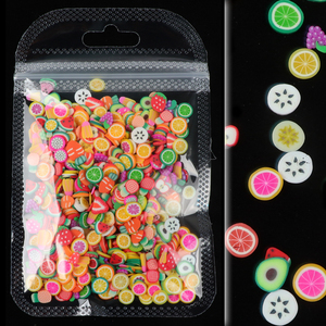 10G Nail Art Fruit Slices Decoration Mixed Fruit Slice DIY Design Acrylic Beauty Polymer Clay Nails Sticker 15 Style Accessories