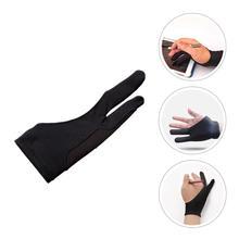 6Pcs Two Finger Gloves Tablet Drawing Gloves Anti Touch Gloves Artist Gloves