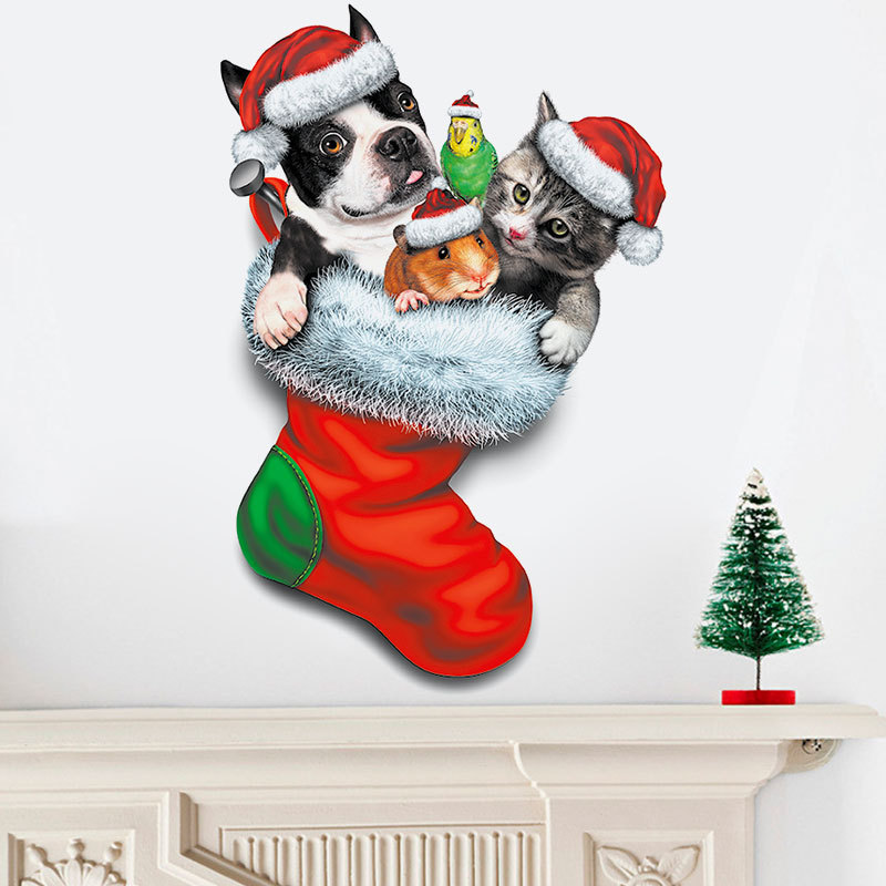 12PCS Xmas Gift Unisex Warm Cotton Long Socks Santa Snowman Snowflake Stockings