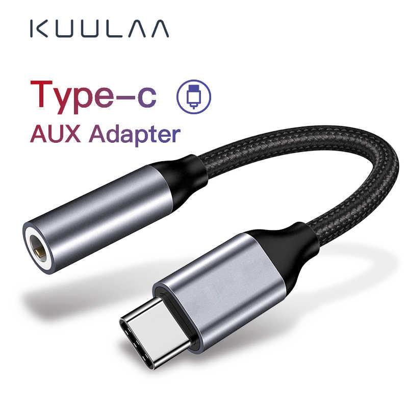 KUULAA tip c için 3.5mm jack kulaklık kablo USB c 3.5 Aux kulaklık ses adaptörü için huawei mate 20 P30 pro xiaomi mi6 8 9 SE