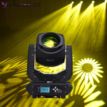 цена на Led 200w Spot Light Dmx512 Gobo 3 Face Prism Moving Head Light Disco Party Dj Club Sound Activated Light  Stage Lighting Effect