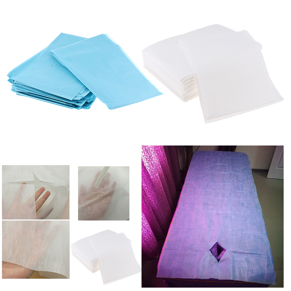 5Pcs Nonwoven Disposable Bed Sheet Paper for Inconvenience, Massage Table  Sheet, Facial Beauty Salon Supplies, Wax Chair Covers