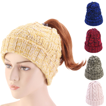 Warm Wool Hat Beanie Winter Hats for Women Ponytail Skullies Cap New Fashion Gorros Mujer Invierno Caps Woman Accessories Gifts winfox new animal warm knitted winter hats for women gorros mujer invierno skullies bonnet unisex beanie cap dropshipping