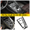 Yimaautotrims Rvs Carbon Look Interieur Voor Audi A4 A5 B9 2016 - 2020 Versnellingsbak Kraampjes Shift Panel Cover trim