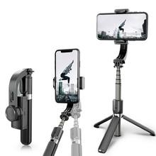 3 ציר Gimbal כף יד Bluetooth Smartphone מייצב טעינה עם שלט רחוק עבור Vlog וידאו Selfie Youtube מתקפל
