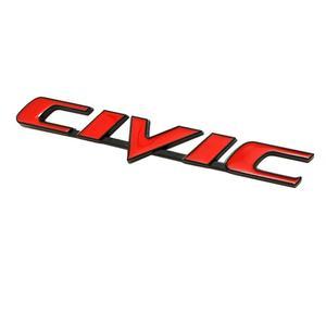 Image 3 - รถ3D โลหะ Emblem Badge สติกเกอร์สำหรับ Honda Civic รถด้านหลังหาง Trunk Letter โลโก้สติ๊กเกอร์ Decals อุปกรณ์เสริมรถยนต์จัดแต่งทรงผม