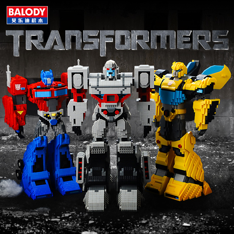 BALODY 3544pcs+ Transformation Robot Building Blocks Truck Model Deformation Car Optimus Bumblebee Brick Toys For Children