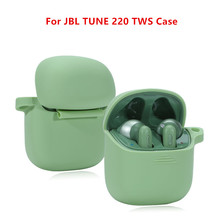 Silicone Wireless Bluetooth Earphones Protective Cover Shell for JBL Tune 220 TWS Anti-dust Earphone Case