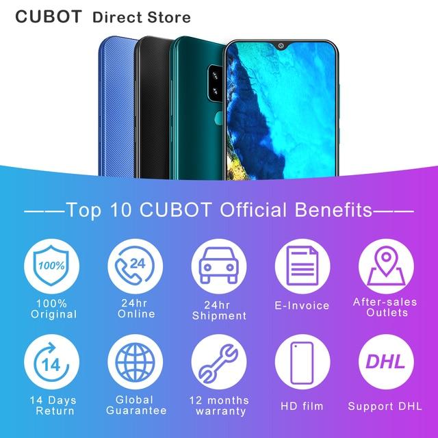 "Cubot X19 Smartphone Helio P23 Octa-Core 5.93"" 2160*1080 FHD+ Display 4000mAh 4GB+64GB Face ID Type-C Twilight Gradient Color 2"
