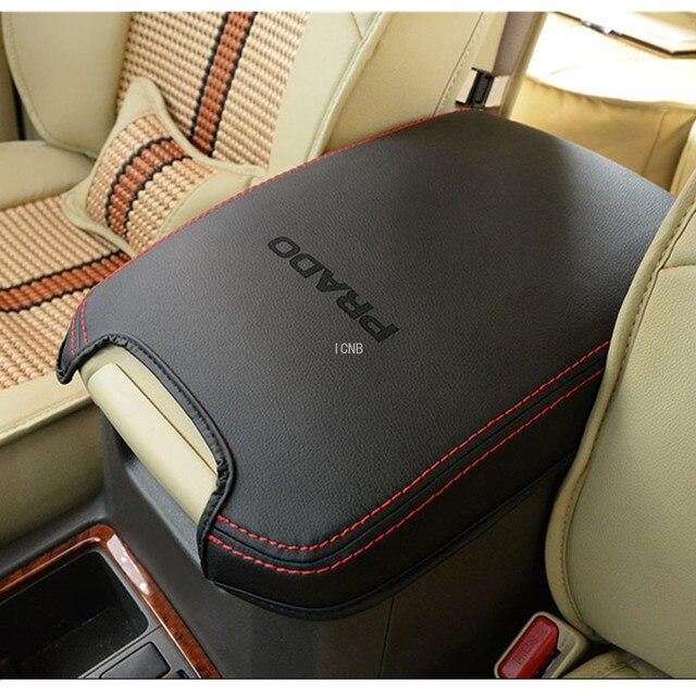 1 uds. Cubierta de compartimento de reposabrazos para Toyota Land Cruiser Prado 120 2003 2004 2005 2006 2007 2008 2009 accesorios