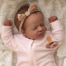RBG- 17 Pouces Ashley Reborn Bébé Jouets En Vinyle Souple Non Peint Inachevé Partie BRICOLAGE Blanc Kits Cadeau de Fête des Mères LOL Poupées Pour Les Filles