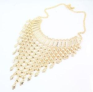 Image 3 - 2020 nowy projekt Dubai złoty kolor moda akcesoria ślubne kostium naszyjnik zestaw biżuteria do strojów afrykańskich zestawy