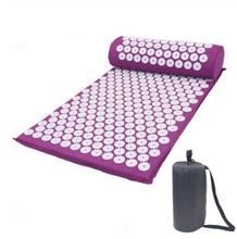 Massager Cushion Massage Yoga Mat Acupressure Relieve Stress Back Body Pain Spike Acupuncture with Pillow
