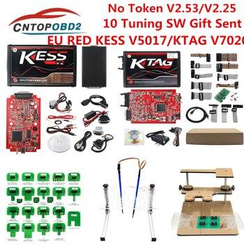 Online V2.53 for Red Kess V2 V5.017 KTAG V7.020 V2.25 OBD2 Manager ECU Tuning Kit kess v2 master full chip ECU programmer K TAG