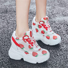 Trainers Women Leather Sneaker Fashion Tennis Platform Wedge High Heel Ankle Boots Casual Shoes autumn spring